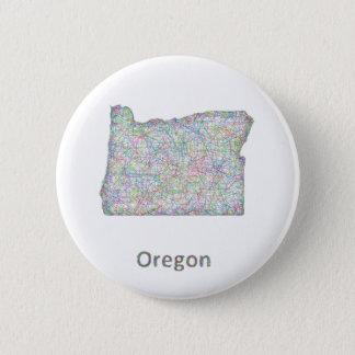 map_line_US_01_Oregon.ai Pinback Button