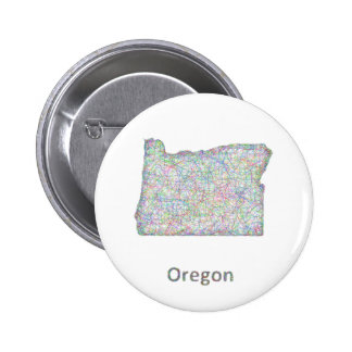 map_line_US_01_Oregon.ai Pinback Button