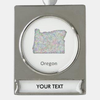map_line_US_01_Oregon.ai Rótulos De Adorno Plateado