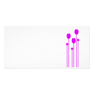 Map long invitation flower tulip love purple pink