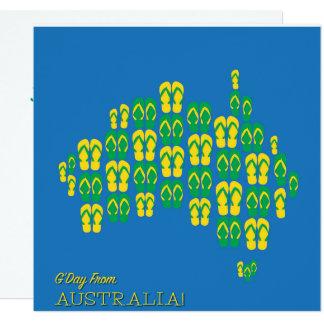Map made of Aussie thongs Card