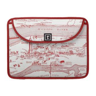 MAP: MANHATTAN, c1935 MacBook Pro Sleeve