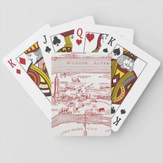 MAP: MANHATTAN, c1935 Playing Cards