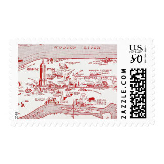 MAP: MANHATTAN, c1935 Postage