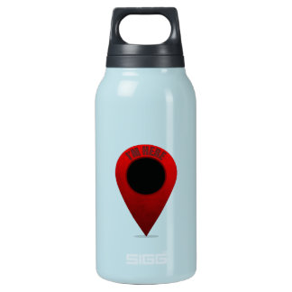 Map Marker Thermos Water Bottle