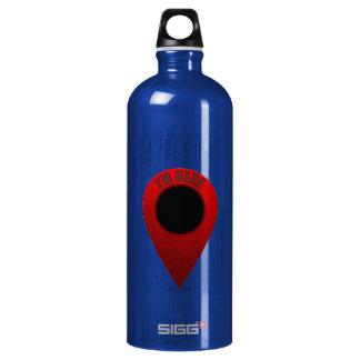 Map Marker Water Bottle