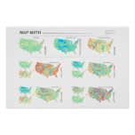 Map Math: the United States of Ratios Posters