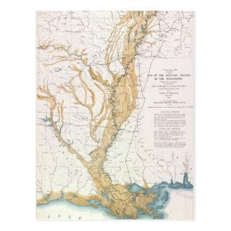 MAP: MISSISSIPPI RIVER, 1861 POSTCARD