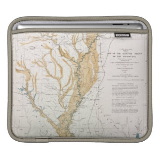 MAP: MISSISSIPPI RIVER, 1861 SLEEVE FOR iPads