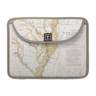 MAP: MISSISSIPPI RIVER, 1861 SLEEVE FOR MacBook PRO