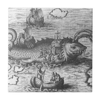 Map Monster/Sea Serpent Ceramic Tile