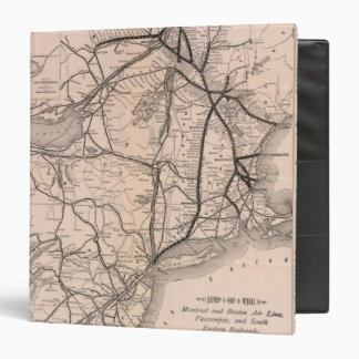 Map Montreal and Boston Air Line Binder