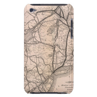 Map Montreal and Boston Air Line iPod Touch Case-Mate Case