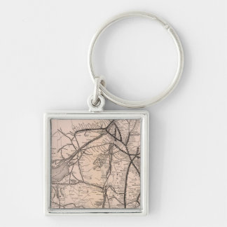 Map Montreal and Boston Air Line Keychain