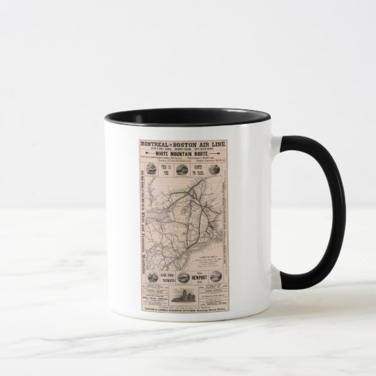 Map Montreal and Boston Air Line Mug