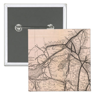 Map Montreal and Boston Air Line Pinback Button