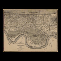 Map New Oleans 1849 Flood posters