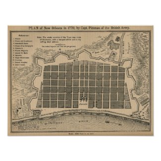 Map New Orleans 1770 print