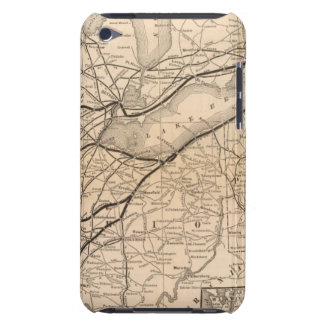Map New York Central and Hudson River Railroad Barely There iPod Cover