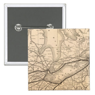 Map New York Central and Hudson River Railroad Button