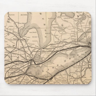 Map New York Central and Hudson River Railroad Mouse Pad