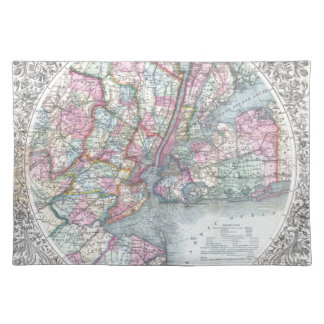 Map  New York City Cloth Placemat