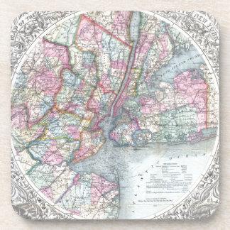 Map  New York City Drink Coaster