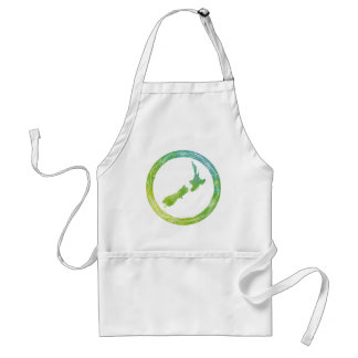 Map New Zealand Adult Apron