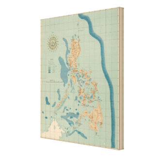 Map No 4 orographic Canvas Print