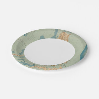Map No 4 orographic 7 Inch Paper Plate