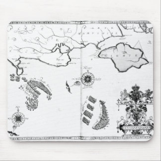 Map No.6 showing the route of the Armada fleet Mouse Pad