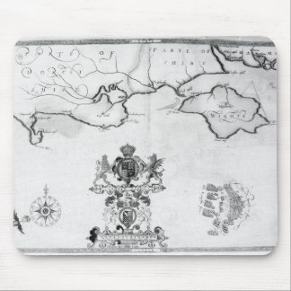 Map No.7 showing the route of the Armada fleet Mousepad