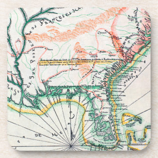 Map: North America, 1742 Coaster