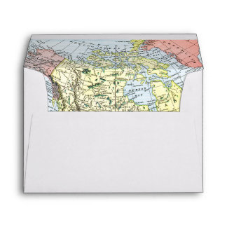 MAP: NORTH AMERICA, 1890 ENVELOPE