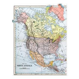 MAP: NORTH AMERICA, 1890 POSTCARD