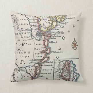 Map: North America, C1700 Pillow