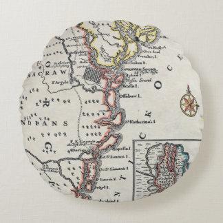 Map: North America, C1700 Round Pillow