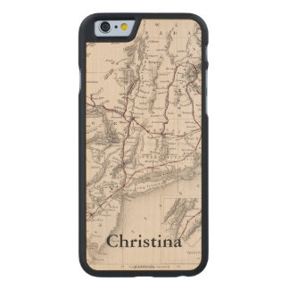 Map: Northeast USA Carved® Maple iPhone 6 Slim Case