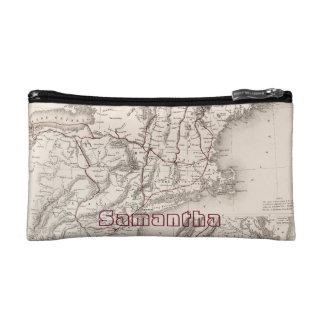 Map: Northeast USA Cosmetic Bag