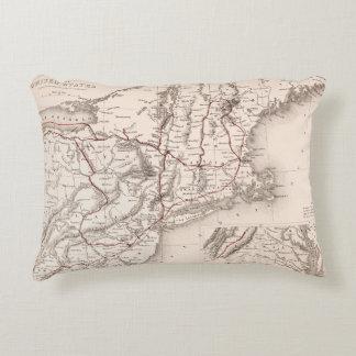 Map: Northeast USA Decorative Pillow