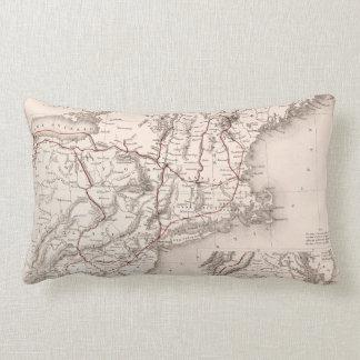 Map: Northeast USA Lumbar Pillow