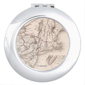 Map: Northeast USA Vanity Mirror