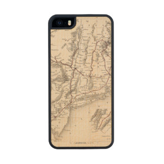Map: Northeast USA Wood Phone Case For iPhone SE/5/5s