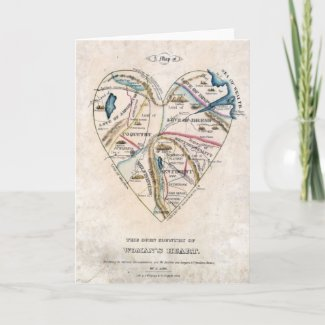 Map of a Womans Heart Cards
