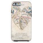 Map of a Womans Heart iPhone 6 Case