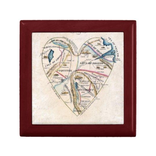 Map of a Womans Heart Keepsake Box