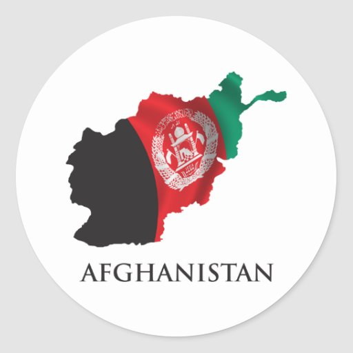 Map Of Afghanistan Classic Round Sticker