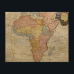 "Map of Africa | 1700 2 Canvas Print<br><div class=""desc"">A color engraving showing the continent of Africa demarcating territories within the continent in 1700.  &#169; Bridgeman Images</div>"