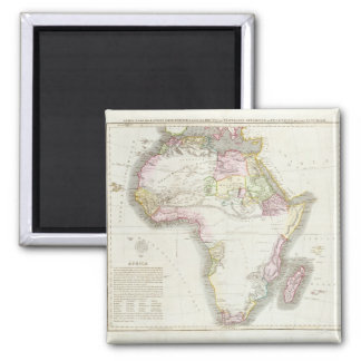 Map of Africa, 1821 2 Inch Square Magnet