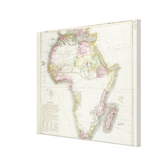 Map of Africa, 1821 Canvas Print